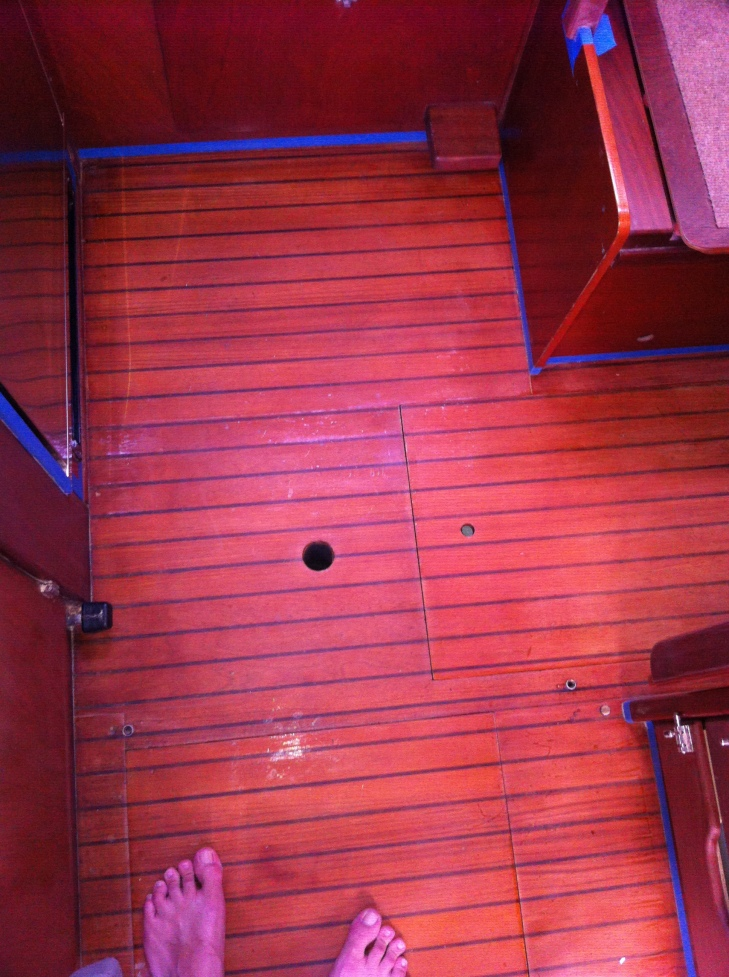 Galley Floor Area - Ready for Sanding