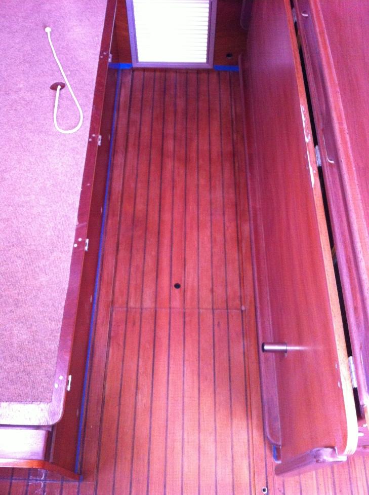 Salon main area sole - before varnish