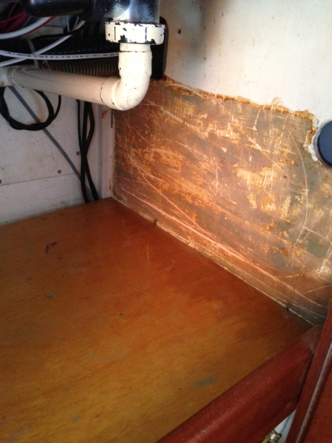 Under the Galley Sink - Before