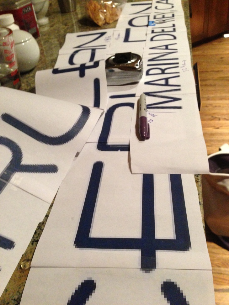 Cutting, Taping, Measuring all the heights and font sizes!